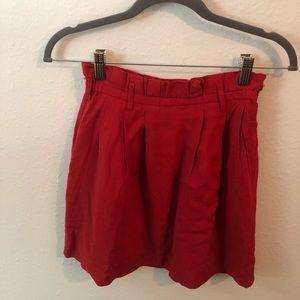 Red mini skirt!